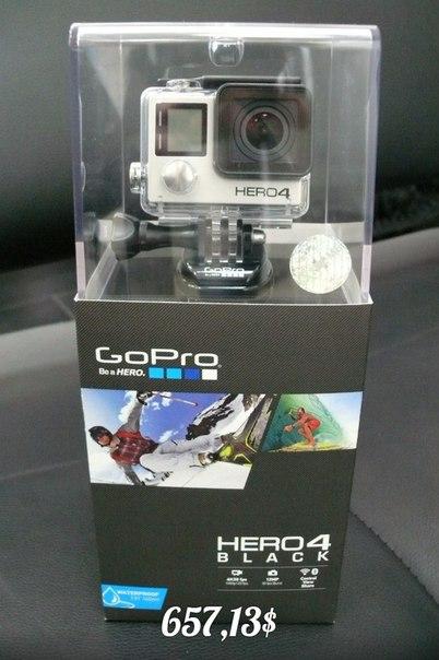 Камера HERO4: Black Edition, встроенный Wifi, функция ProTune, набор креплений.